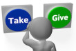 Take Give Buttons Showing Compromise Or Negotiation