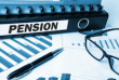 pension on business document folder