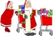 santa & mrs. claus shopping