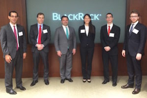 Eric Moore, PhD candidate at Wharton, 2nd from left